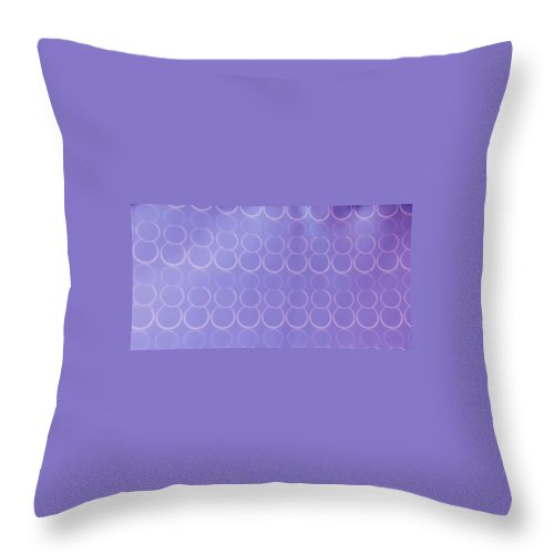 Bubbles Throw Pillow featuring the pastel Bubbles All Over The Place 3 by Erma L George