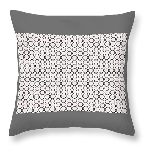 Bubbles Throw Pillow featuring the drawing Bubbles All Over The Place 2 by Erma L George