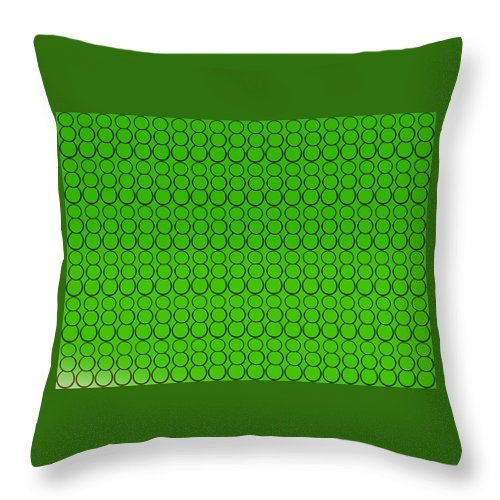 Bubbles Throw Pillow featuring the drawing Bubbles All Over The Place -5-grn by Erma L George