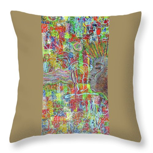 Bubbles Throw Pillow featuring the painting Bubbles by Jacqueline Athmann