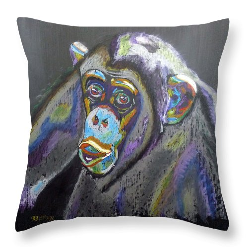 Michael Jackson Throw Pillow featuring the painting Bubbles by Richard Le Page
