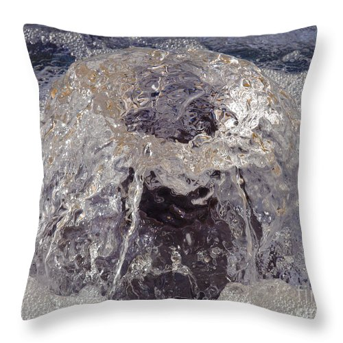 Bubbles Throw Pillow featuring the photograph Bubbling Bubbles by Ann Horn
