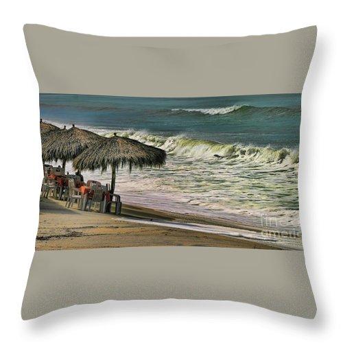 Mexico Throw Pillow featuring the photograph Bucerias Beach Mexico by Chuck Kuhn