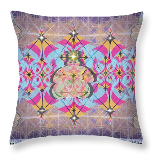 Abstract Throw Pillow featuring the digital art Buddah II by George Pasini