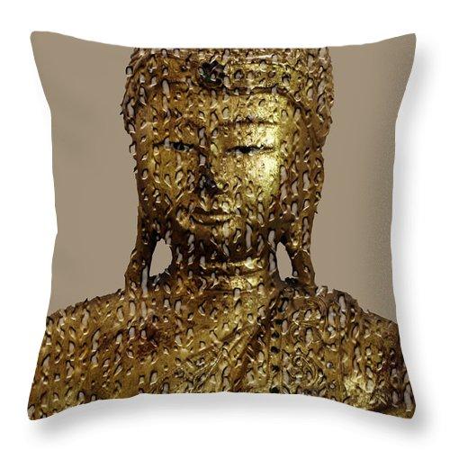 Buddha Throw Pillow featuring the photograph Buddha by Daleep Kumar