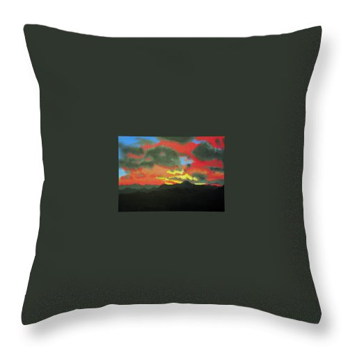 Sunset Throw Pillow featuring the painting Buenas Noches by Marco Morales