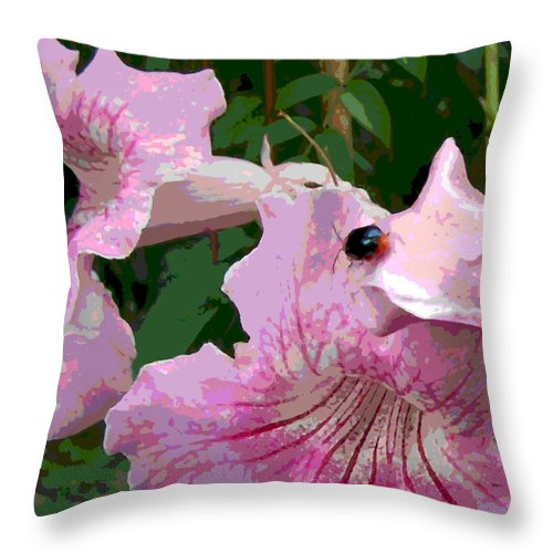 Square Throw Pillow featuring the digital art Bug Considering Going There by Eikoni Images