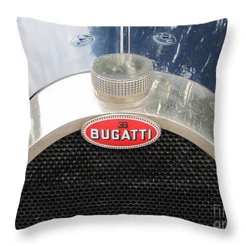 Bugatti Throw Pillow featuring the photograph Bugatti by Neil Zimmerman