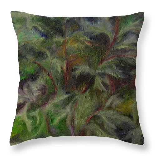 Bees Throw Pillow featuring the painting Bugbane by FT McKinstry