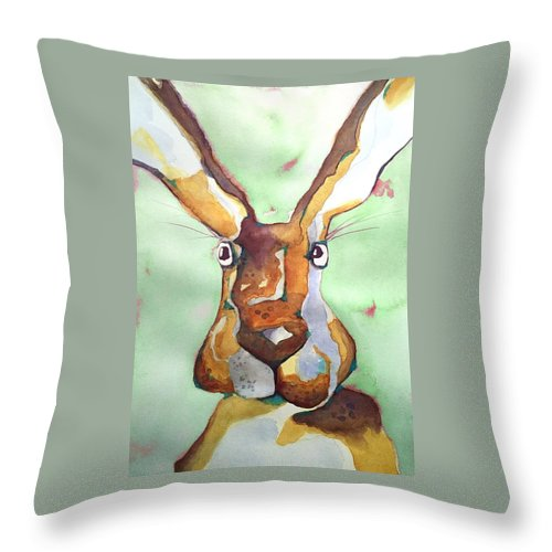 Throw Pillow featuring the painting Bugsy Malone by Michael Rome