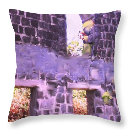 St Kitts Throw Pillow featuring the photograph Built To Last by Ian MacDonald