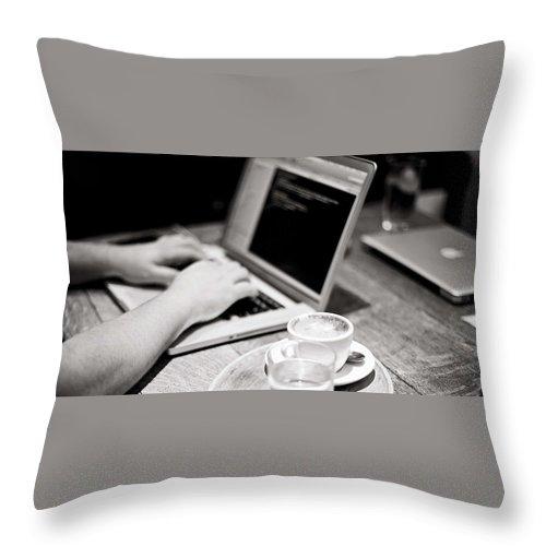 Bulk Sms Throw Pillow featuring the digital art Bulk SMS Developer API by Natasha Williams