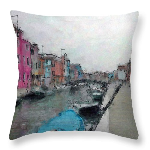 Ebsq Throw Pillow featuring the photograph Burano by Dee Flouton