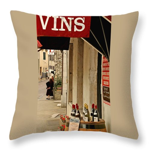 France Throw Pillow featuring the photograph Burgundy Wine Road by Christine Burdine