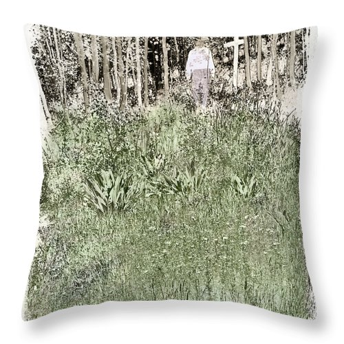 Burial Throw Pillow featuring the photograph Burial Ground by Madeline Ellis