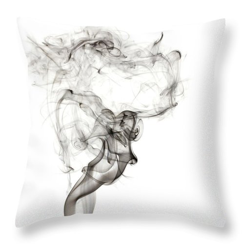 Abstract Throw Pillow featuring the photograph Burlesque by Shannon Workman