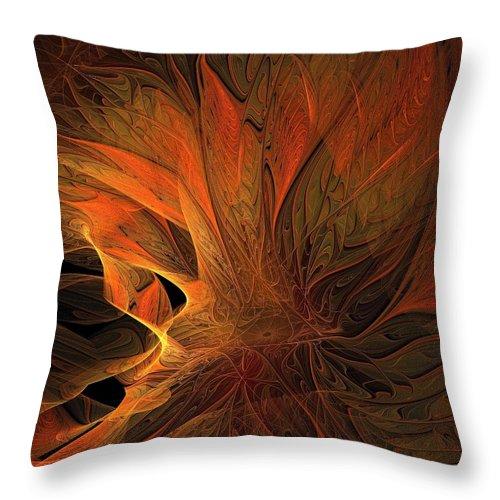 Digital Art Throw Pillow featuring the digital art Burn by Amanda Moore