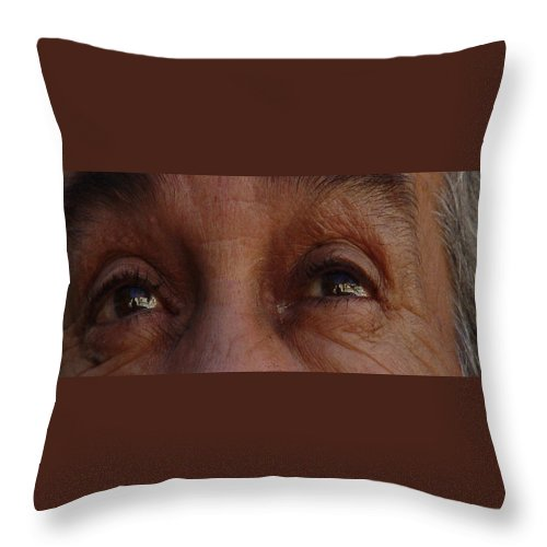 Eyes Throw Pillow featuring the photograph Burned Eyes by Peter Piatt
