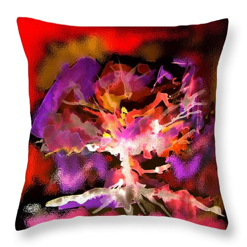 Bible Throw Pillow featuring the digital art Burning Bush by Seth Weaver