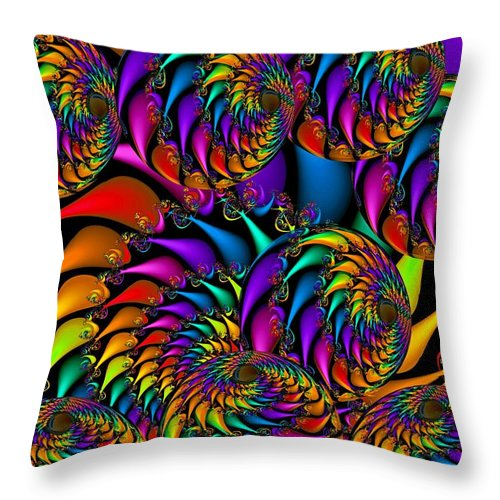 Colorful Throw Pillow featuring the digital art Burning Embers by Robert Orinski