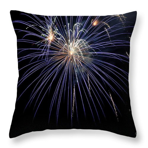 Clay Throw Pillow featuring the photograph Burst by Clayton Bruster