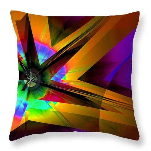 Abstract Throw Pillow featuring the digital art Burst by Frederic Durville