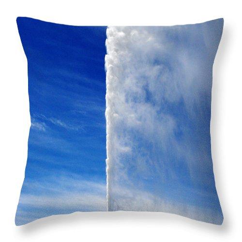 Lake Geneva Throw Pillow featuring the photograph Burst by Jeff Barrett