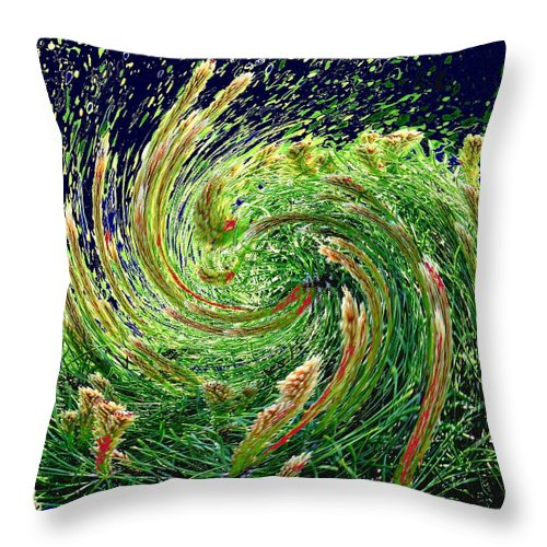 Pine Throw Pillow featuring the photograph Bush In Transition by Ian MacDonald