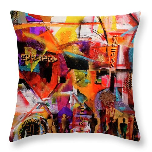 Everett Spruill Throw Pillow featuring the painting But still like air, we rise by Everett Spruill