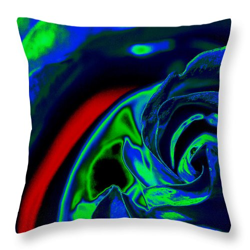 Rose Throw Pillow featuring the photograph Butler Rose IIi by Michael McGowan