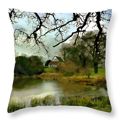 England Throw Pillow featuring the photograph Butlers Retreat Epping Forest Uk by Kurt Van Wagner