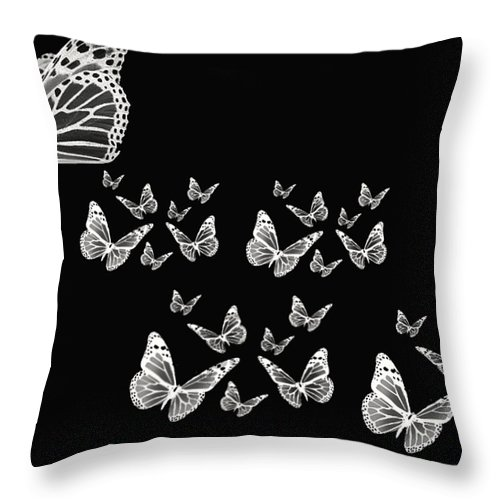 Butterfly Photographs Throw Pillow featuring the photograph Butterflies by Lourry Legarde