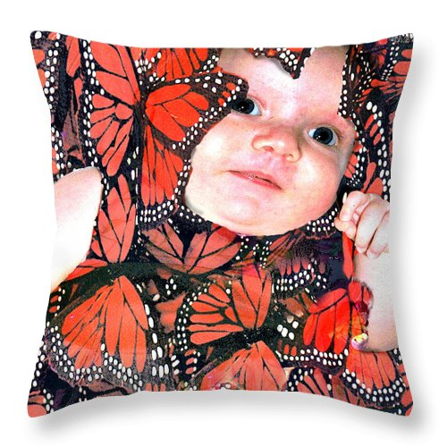 Butterfly Throw Pillow featuring the photograph Butterfly Baby by Seth Weaver