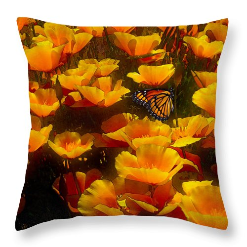 Butterfly Effect Throw Pillow featuring the painting Butterfly Effect by Robby Donaghey