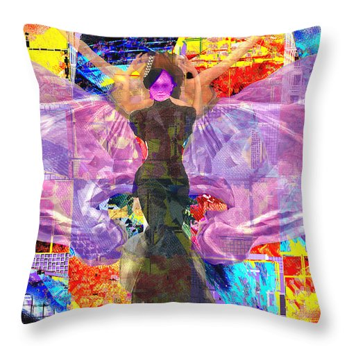 Butterfly Throw Pillow featuring the digital art Butterfly Fantasy by Seth Weaver