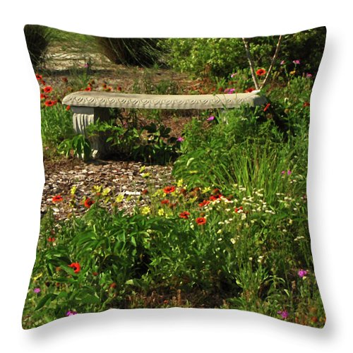 Nature Throw Pillow featuring the photograph Butterfly Garden by Peg Urban