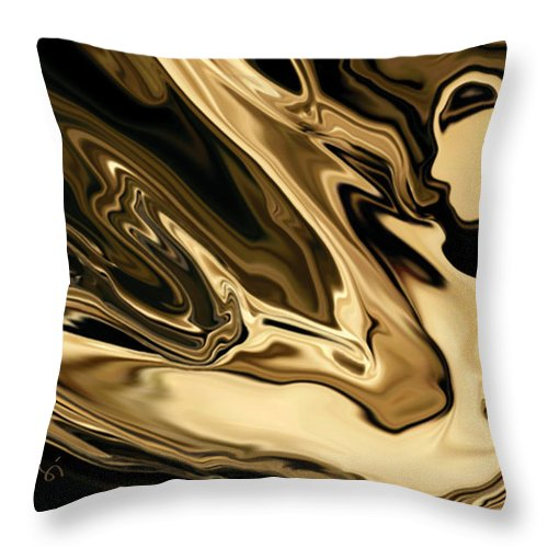 Abstract Throw Pillow featuring the digital art Butterfly Girl 3 by Rabi Khan