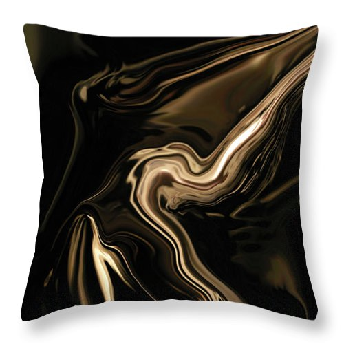 Abstract Throw Pillow featuring the digital art Butterfly Girl by Rabi Khan