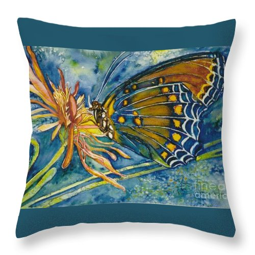 Butterflies Throw Pillow featuring the painting Butterfly In Ca by Norma Boeckler