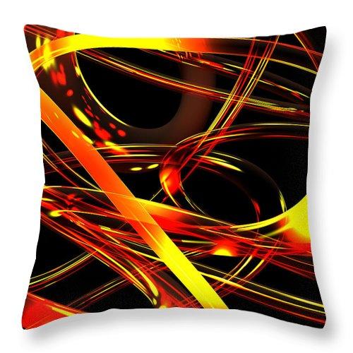 Scott Piers Throw Pillow featuring the digital art BWS by Scott Piers