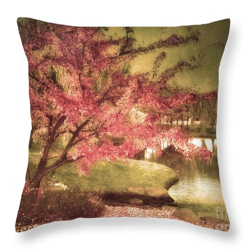 Tree Throw Pillow featuring the photograph By The Water by Tara Turner