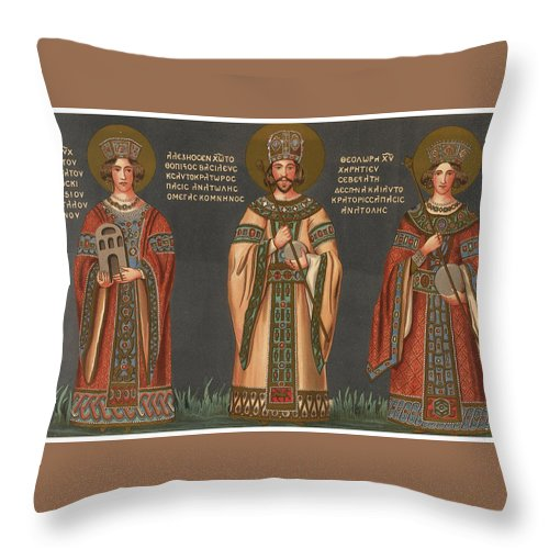 Byzantine Architecture Throw Pillow For Sale By Charles Texier And R Popplewell Pullan