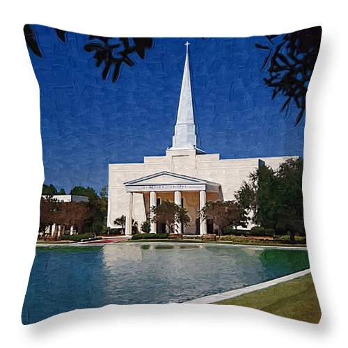 Charleston Southern University Throw Pillow featuring the photograph C S U by Donna Bentley