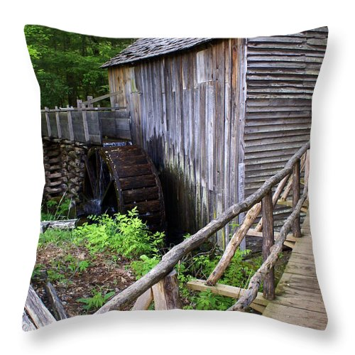 Cable Mill Throw Pillow featuring the photograph Cable Mill 3 by Marty Koch