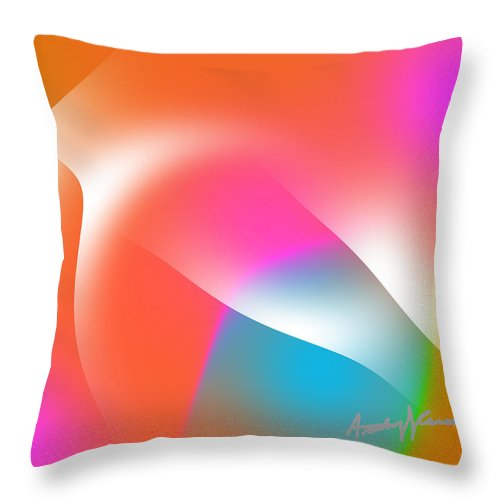 Abstract Throw Pillow featuring the digital art Cacophony Of Color by Anthony Caruso