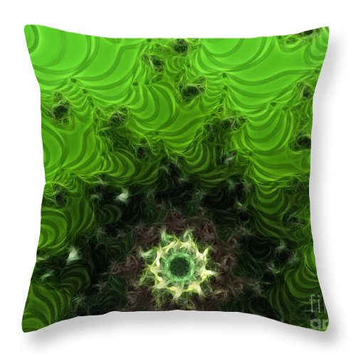 Cactus Abstract Throw Pillow featuring the digital art Cactus Abstract by Methune Hively