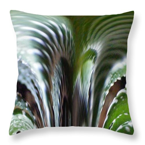Cactus Digital Art Throw Pillow featuring the photograph Cactus Predator by Barbara Griffin