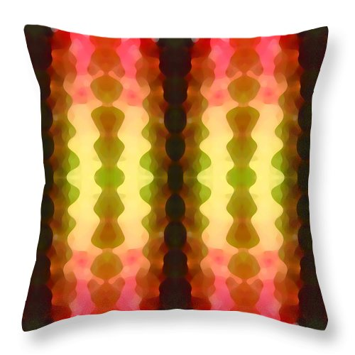 Abstract Painting Throw Pillow featuring the digital art Cactus Vibrations 1 by Amy Vangsgard