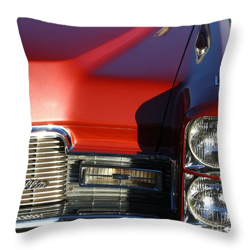 Cadillac Throw Pillow featuring the photograph Cadillac Dreaming by Mary Chris Hines