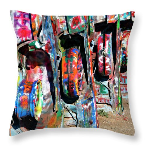 Cadillac Throw Pillow featuring the photograph Cadillac Style by Ricky Barnard